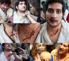 Renly Zombie make-up by CalamityJade