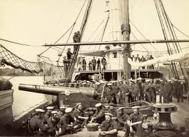 USS Mendota on James River Virginia August 186 by lichtie
