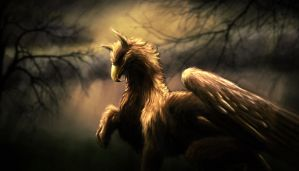 Gryphon Speed Painting by Pittyputty
