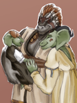 Happy Baby Retsis with her Mom and Dad by Hot-Gothics