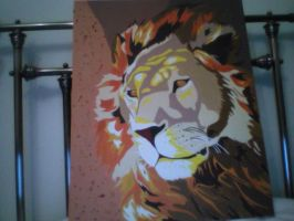 Lion - acrylic on canvas by elsarose