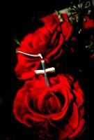 cross on roses by Ailime-Ael