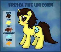 Fresca the Unicorn: Reference Sheet by foxgirlKira