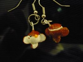 Clay Sparrow Earrings by chibimemories