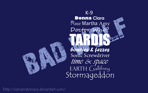 Simple Doctor Who Typography Wallpaper by VampirateMace
