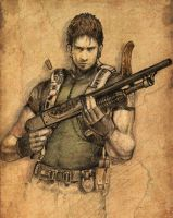 Chris Redfield -sketch- by Amdhuscias