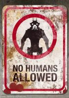 No Humans Allowed by Robgrafix