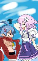 Laharl and Neptune by 123icoo