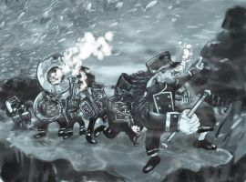Underwater Marching Band by BrothaBlu