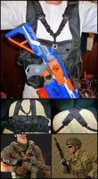NERF Chest Rig Vest-Integrated Sling by MarcWF