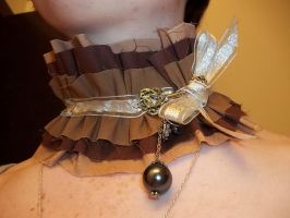 For Sale: Steampunk Key Choker by Shewen