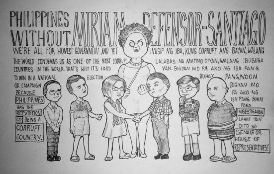 MIRIAM DEFENSOR SANTIAGO by Krnj