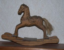wooden rocking horse by wingz-of-change