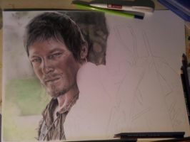Daryl Dixon WIP by MCVD