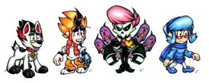 Mystery Skulls Animated Chibis by ToastyLynx