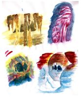watercolor sketches by Aileen-Kailum