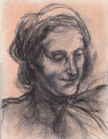 Study of Head of St. Anne by joshthecartoonguy
