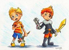 Lucas and Claus by Kosmotiel