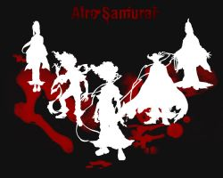 Afro Samurai Wall Paper - BW by Cypher7523