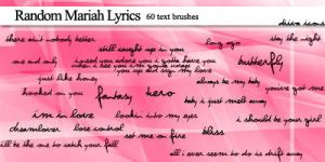 60 Mariah lyric brushes by twistedswanton