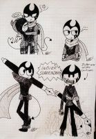 .Sketches of Ink Bendy-Sketches #7. by vocaloid121