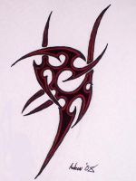 Tribal Tattoo Design by 1nk-z0m813