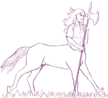 Me as centaur by Alisha-town