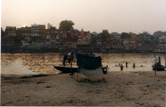 Varanasi, from the other side by nataraj999
