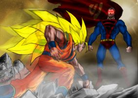 mikemaluk's Goku Vs Superman by WhonOFaKind