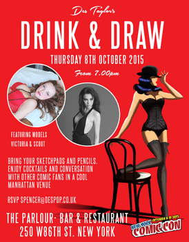 DRINK AND DRAW WITH DES TAYLOR IN NEW YORK by DESPOP