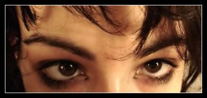 Look into my eyes if you dare. by Anere