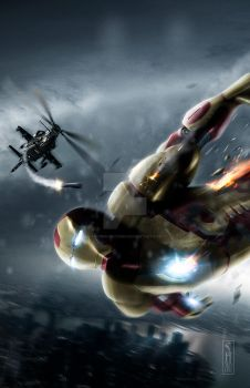 Ironman 3 poster print  by Harben-Pictures