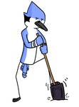 Mordecai isn't about this digging life by Ridoriii