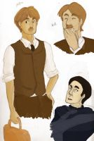 More Holmes n Watson Sketches by BlueCheshireCat