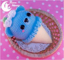 Crochet ice cream bear - 2 by CuteMoonbunny