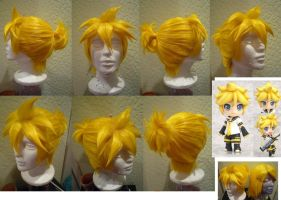 Len Kagamine wig from VOCALOID by taiyowigs