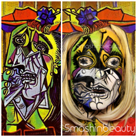 Pablo PIcasso The Weeping Woman Face Paint by smashinbeauty