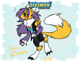 Digimon Meme- Daiyu the Renamon by FENNEKlNS