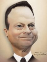 Caricature of Gary Sinsie by RahulUjjal