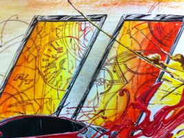 Darting through reality - Detail of background by apra-art