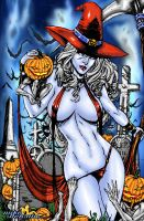 WIP4LadyDeath Halloween2013(color) by Mike DeBalfo by dragonx81
