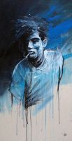 Man Smoking Blues by GRAFFMATT