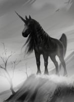 Black unicorn by theOvercoat
