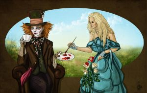 Alice and Hatter by Pikeperch9