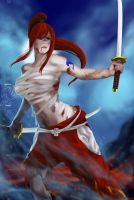 Erza Scarlet by HaitianHallow
