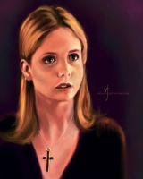 52 Portraits #21: Buffy by rflaum