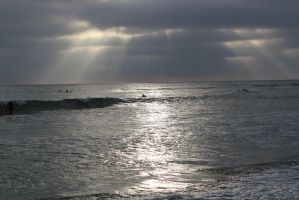 Carlsbad Beach During Sunset by KnightAR