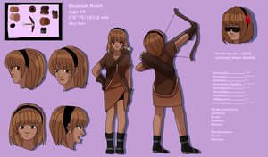 Hannah Reed Character Sheet by Punkichi