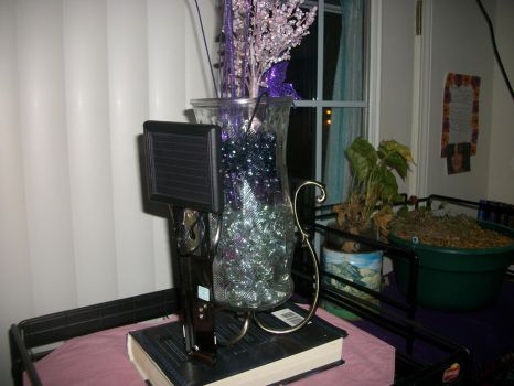 Katie's Purple Nightlight Vase (Rear View) by JoManyNames