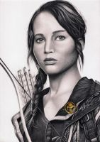 Katniss Everdeen The Hunger Games drawing by Bajan-Art